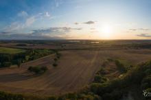 Panorama, Felder in S-H im Sonnenuntergang