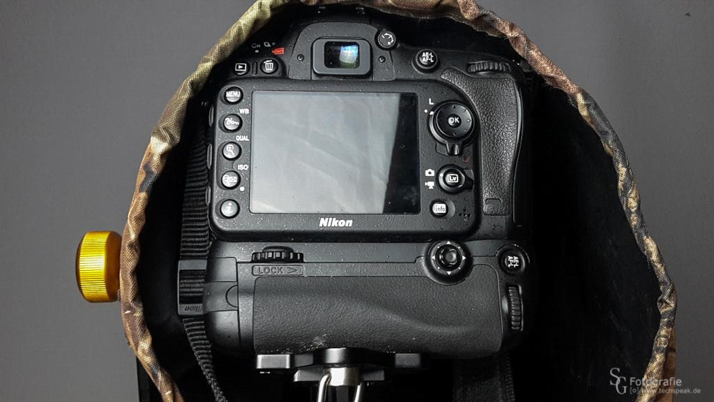Ansicht des Kamera Eingriffs mit Kordelzug