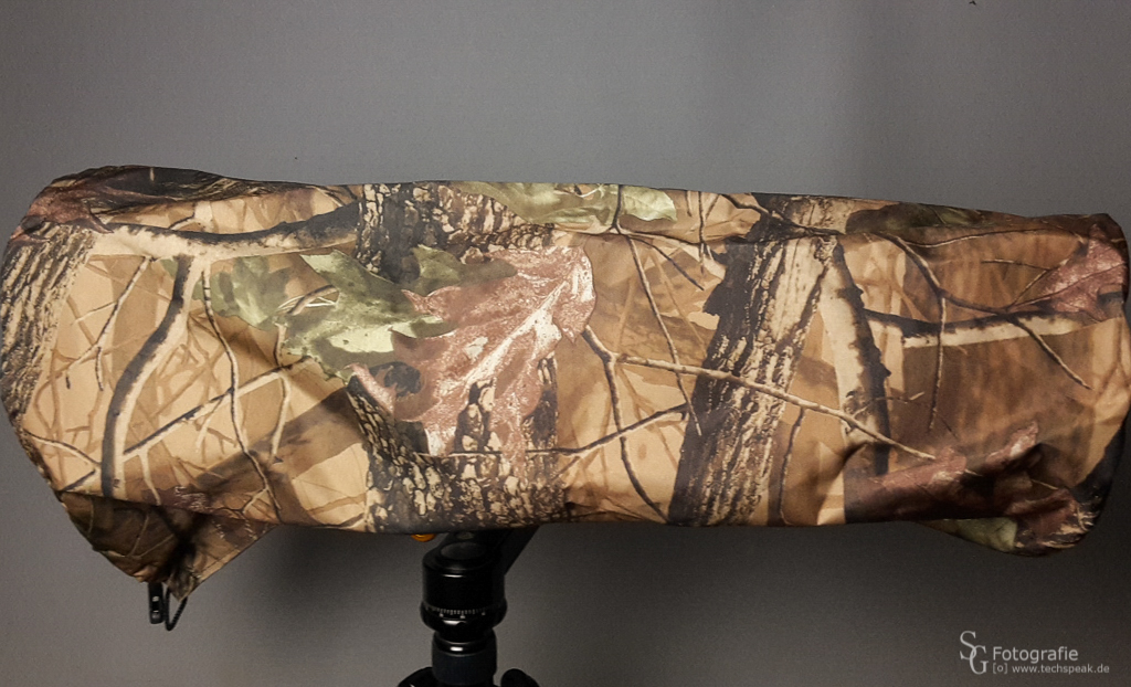Regenschutz - Tarnmuster (Leaf Pattern), Cover über Kamera & Objektiv