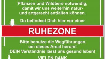 """Ruhezone"" Schild"
